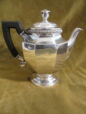 early 20th c silverplate gallia christofle tea pot gadroons Louis XIV style