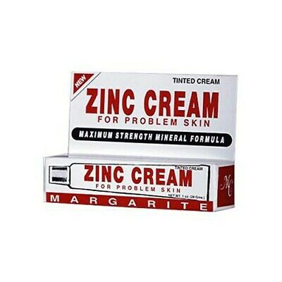 Margarite Cosmetics, Zinc Cream, For Problem Skin - 1 Ounce (Pack of 6)