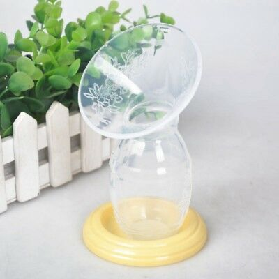 1/2x Silicone Breastfeeding Milk Saver Manual Breast Pump Feeding Storage Bottle