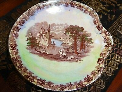 Maling Newcastle on Tyne Dish Plate Unusual shape  England  Rare Collectable