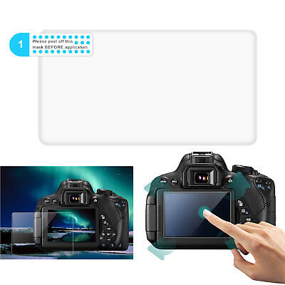 2XCamera LCD Screen Protector Tempered Glass Film Guard Cover for Sony A7M3 A7R3