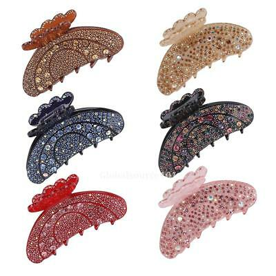 Womens Korean Style Elegant Acrylic Rhinestone Fully-jewelled Large Hair Claw HC
