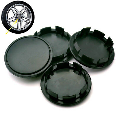 4pcs Black Plastic Wheel Center Cap Cover Clip On 58mm / 51mm For Kia Sorento