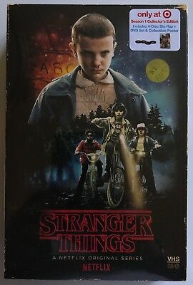 New Stranger Things Season 1 Blu Ray Dvd Target Exclusive Vhs Packing + Poster