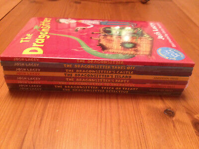 Dragonsitter Collection Josh Lacey 8 Books Set Dragonsitter Detective, New