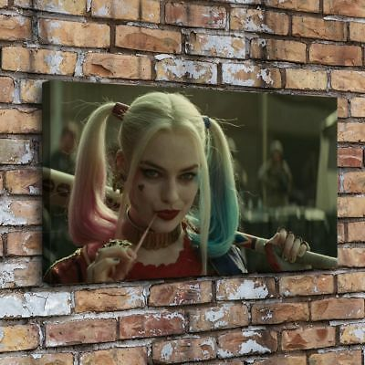 "12""x22""3483-Harley Quinn Squad Painting HD Print on Canvas Home Decor Wall Art"