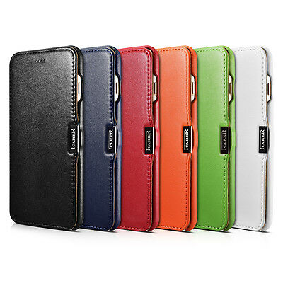 ICARER Luxury Genuine Leather Magnetic Flip Case Cover for iPhone 7 Plus 5.5Inch