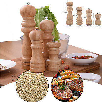 Vintage Wooden Salt And Pepper Grinder Shaker Spice Muller Mill Pot Kitchen Tool