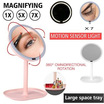 X7 Magnifying Simplehuman Llluminated Motion Sensor Cosmetic LED Mini Mirror UK