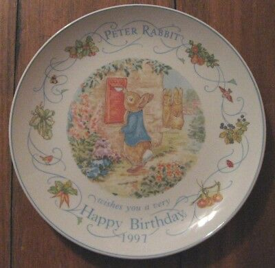 Peter Rabbit 1997 Birthday Plate Hare Today, Gone Tomorrow! Wedgewood