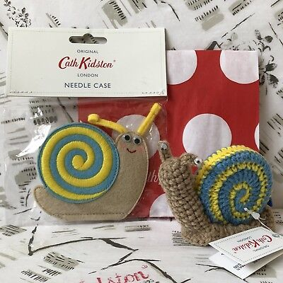 CATH KIDSTON Snail Tape Measure and Needle Case + Needles NEW + Gift Bag GENUINE