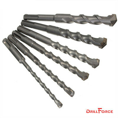 6PCS SDS+ Rotary Hammer Bit Kit Carbide Drill Bits Set For Concrete Masonry Wall