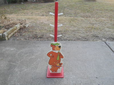 LAST LISTING Original Rare Vintage 1970s Yogi Bear & Boo Boo Coat Rack w/ Height