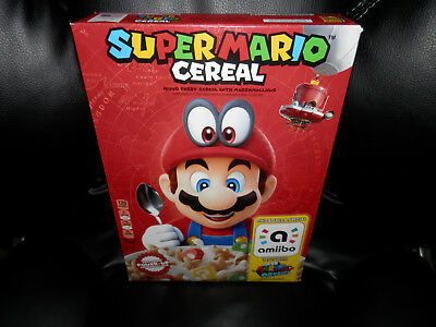Kellog's SUPER MARIO ODYSSEY CEREAL Limited Edition Nintendo W/Amiibo SHIPS NOW