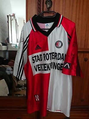 FEYENOORD shirt CRUZ 9 LARGE - 98/99 AUTOGRAPHED by the then champions!