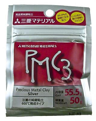 PMC3 Mitsubishi Precious Metal Clay 55.5g Silver Art Clay Pack 50g Silver Weight