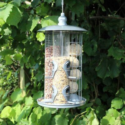 3 In 1 Wild Bird Feeder Suet Fat Ball Seed And Nut Feeder With Hanging Loop