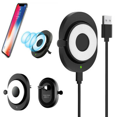 Wireless Charging Holder Mount Air For iPhone Magnetic Dock Car Qi Charger Vent