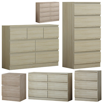 eb38e7b75fc HOVE LIGHT OAK Modern Chest of Drawers 3 5 6 or 8. Tall Wide Chest ...