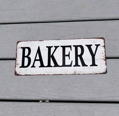 Bakery Vintage Look Rustic Metal Sign Retro Man cave Chic Deco Art 5x12 SS33