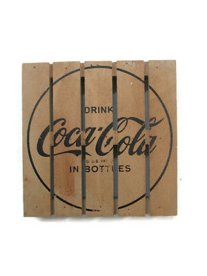 Coca-Cola Wooden Pallet Coaster Set Natural Finish- BRAND NEW