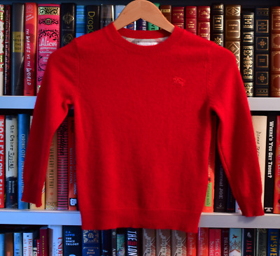 Preowned Children  Burberry Sweater Size: 8 youth  Color  burberry red