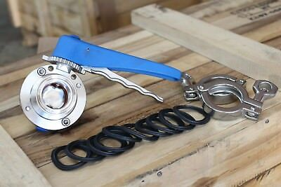 1 1/2'' Sanitary Satinless Steel 304 Butterfly Valve Tri Clamp