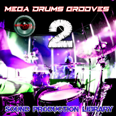 MEGA DRUMS GROOVES 2 - PRODUCTION LIBRARY - Kits/Loops/Performances 8GB 2DVDs
