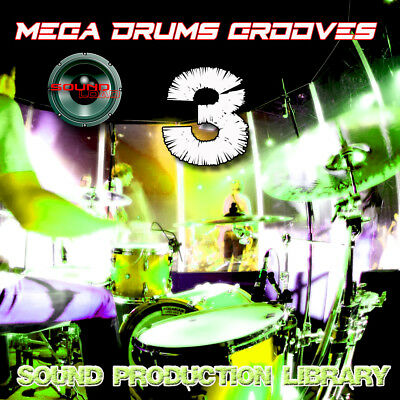 MEGA DRUMS GROOVES 3 - PRODUCTION LIBRARY - Kits/Loops/Performances 8GB 2DVDs