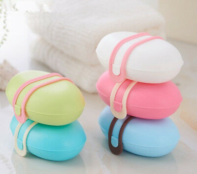 Portable Travel Bathroom Leakproof Soap Dish Box Buckle Case Holder Container