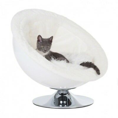 White Chair For Cats Small Dog Retro Lounge Sofa Bed Pet Nest Sleeping Cushion