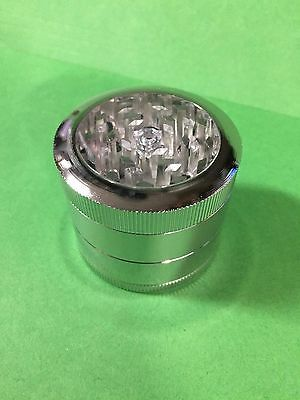 "Herb Grinder Crusher for Tobacco 4 Piece 2"" Metal Hand Muller Spice Chrome USA"