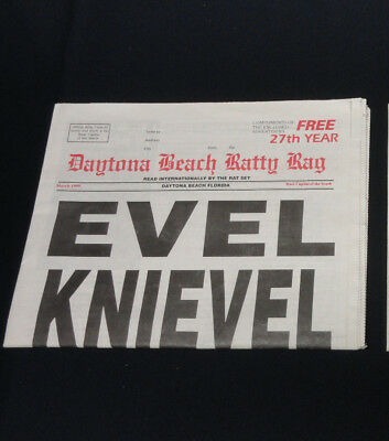 Evel Knievel Daytona Beach Ratty Rag News Paper Newspaper