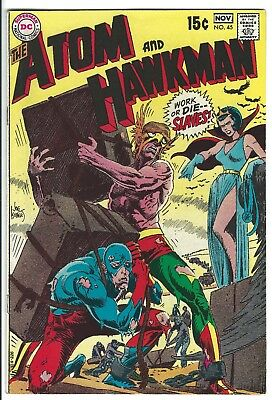 Atom And Hawkman 45 Silver Age Comic Book 1969 Last Issue Jean Loring Goes Mad