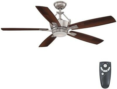 56in led indoor brushed nickel ceiling fan with light kit remote led indoor brushed nickel ceiling fan with light kit remote control large aloadofball Image collections