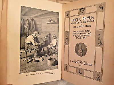 Uncle Remus by Joel Chandler Harris 1924 D Appleton & Company New York