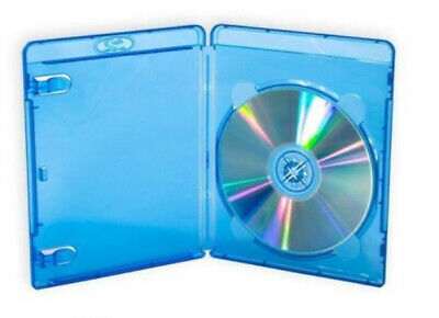 100 Blu Ray Cover Case 14mm Single Hold 1 BluRay BDR Disc with Clear plastic -c