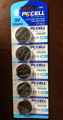CR 2450 PKCELL Lithium Button Coin Cell Battery for Watches EXP 2022- 5 Battery