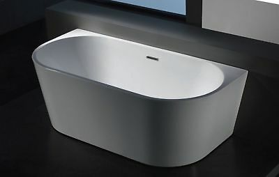 "Bathroom Acrylic Free Standing Bath Tub ""Thin Edge"" 1500x750x580 No Overflow"