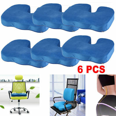 6X Memory Foam Lumbar Pain Relief Chair Pillow Orthopedic Coccyx Seat Cushion BP