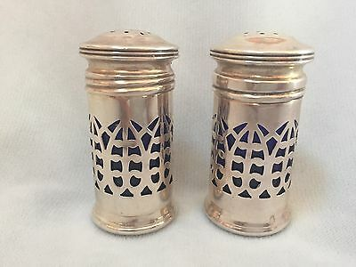 Pair Of Sterling Shaker With Glass Liner