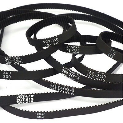 Round GT2 Timing Belt CNC 6mm wide 2mm pitch 2GT For 3D Printer RepRap Pulley