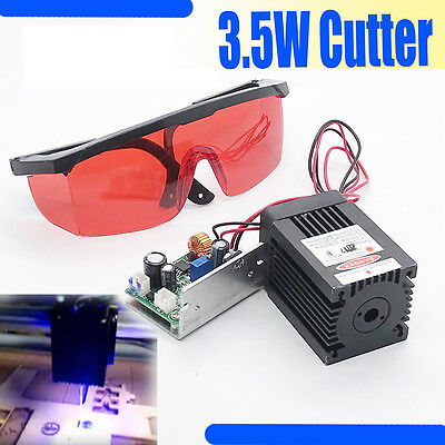 450nm 3.5W-4W Blue Laser Module TTL Carving/Burning/Engraning Gift Goggles