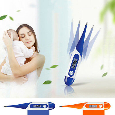 Digital Oral Thermometer LCD Baby Adult Kids Body Safe Ear Temperature Alarm UK