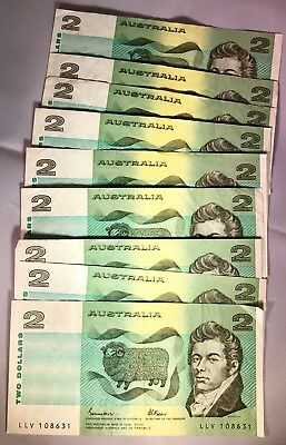 Australian Paper $2 Note Circulated Condition.