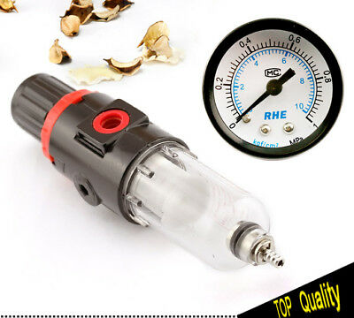Air Filter Pressure Regulator 1/4 Inch for Spray Compressor with Gauge Set