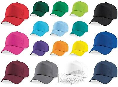 KIDS CAP Beechfield Original 5 PANEL CAP Children Baseball Cap Plain Curved Peak