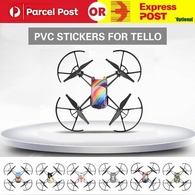 3PCS Waterproof PVC Stickers Decal Skin Wrap Protector for DJI TELLO Drone Quad