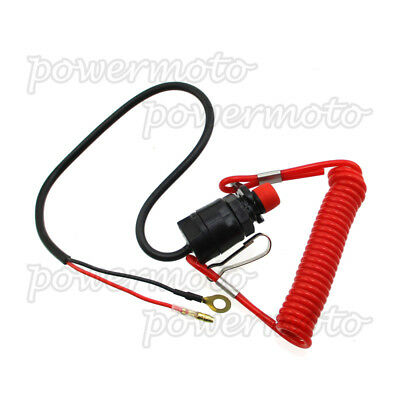 Safety Tether Lanyard Kill Stop Switch For ATV,Snowmobile,Scooter,Pit Dirt Bike
