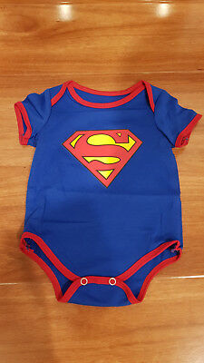 Brand new Superman baby snap suits - Size 00 3-6m